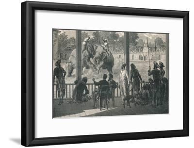 Elephant Fight at Baroda, 1896