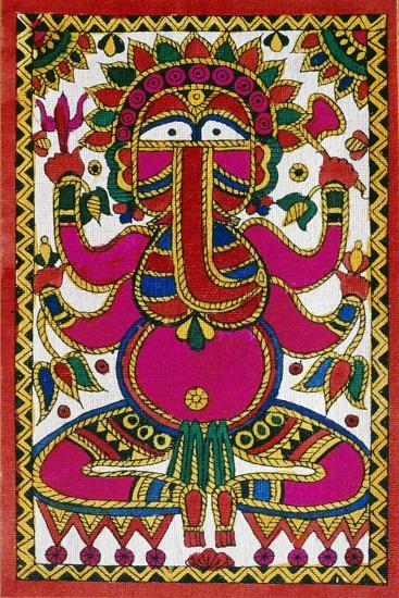 Elephant Headed God Ganesh--Giclee Print