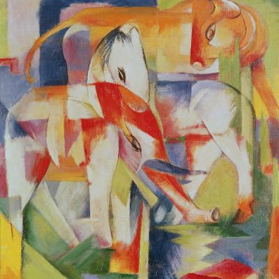 Elephant, Horse and Cow, 1914-Franz Marc-Giclee Print
