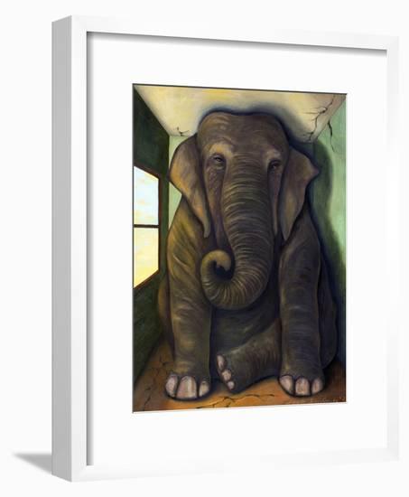 Elephant in the Room-Leah Saulnier-Framed Giclee Print