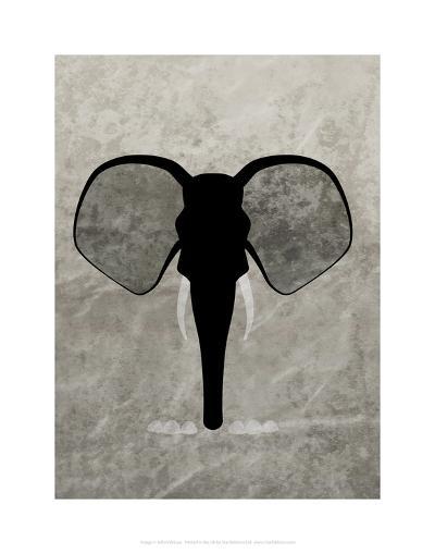 Elephant - Jethro Wilson Contemporary Wildlife Print-Jethro Wilson-Art Print