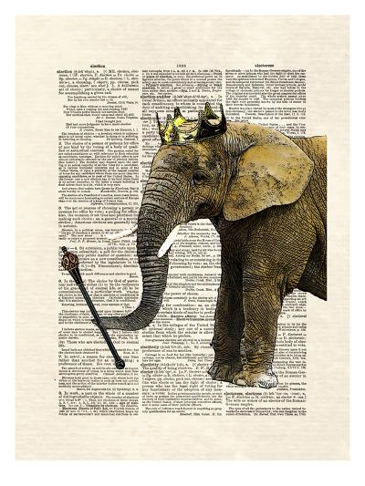 Elephant King-Matt Dinniman-Art Print