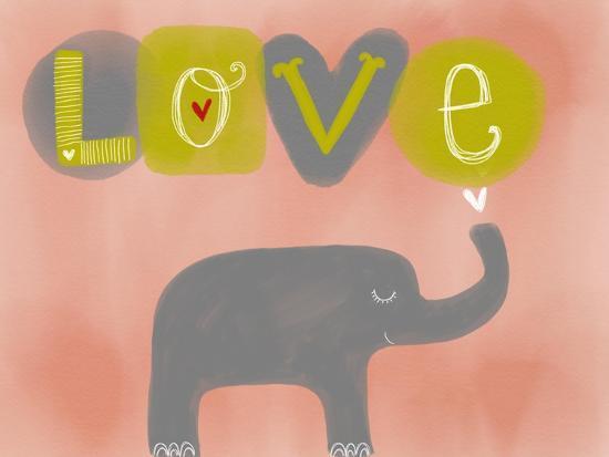 Elephant Love-Katie Doucette-Art Print