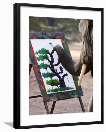 Elephant Painting, Chiang Mai, Thailand, Southeast Asia-Porteous Rod-Framed Photographic Print