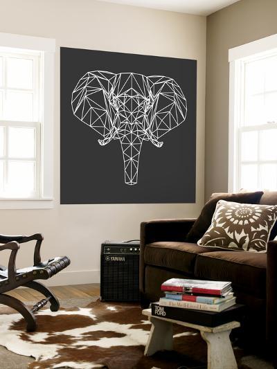 Elephant Polygon-Lisa Kroll-Wall Mural