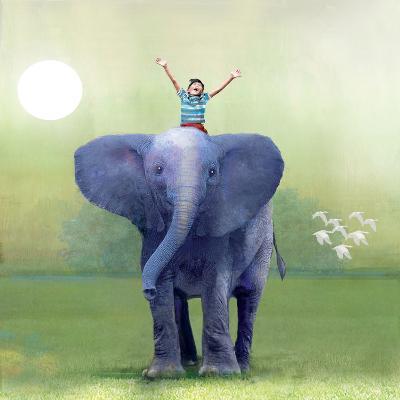 Elephant Ride-Nancy Tillman-Art Print