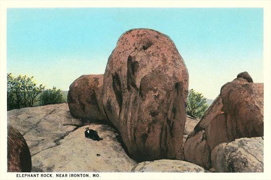Elephant Rock, Ironton--Art Print