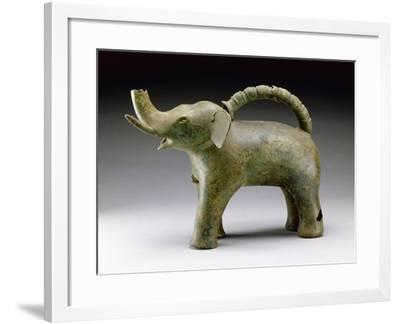 Elephant Water Vessel--Framed Giclee Print