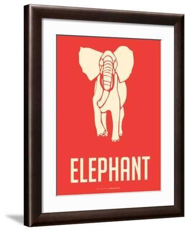Elephant White-NaxArt-Framed Art Print