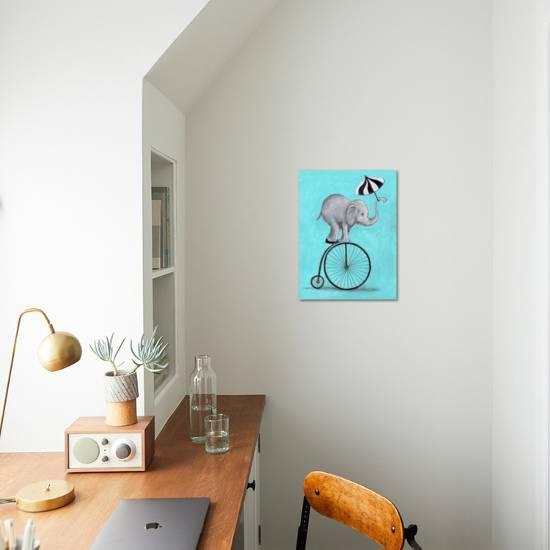 Elephant With Umbrella Art Print Coco De Paris Art Com