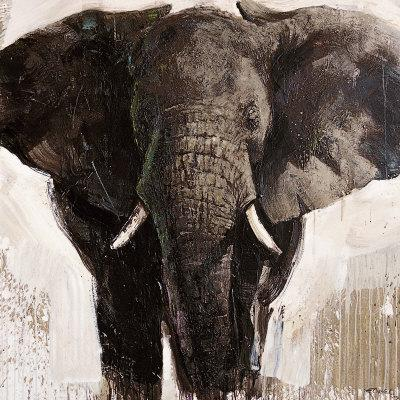 Elephant-Emmanual Michel-Art Print