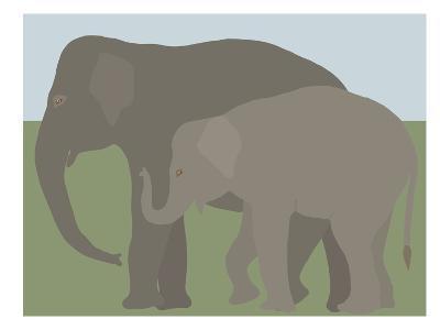 Elephant-Jorey Hurley-Art Print