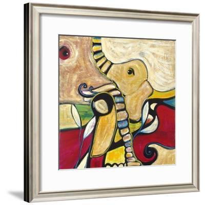 Elephant-Jami Vestergaard-Framed Art Print