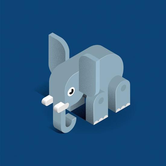 Elephant-Bo Virkelyst Jensen-Art Print