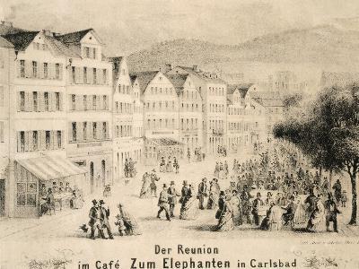 Elephanten Cafe in Carlsbad, Czech Republic 19th Century--Giclee Print