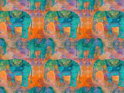 Elephants 2-Lebens Art-Art Print
