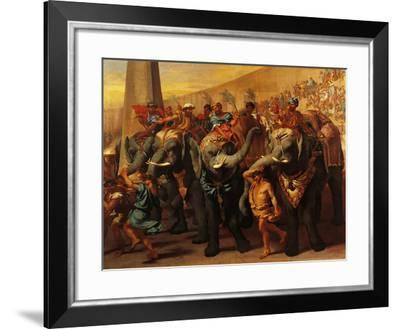 Elephants in Roman Circus-Andrea Lyon-Framed Giclee Print