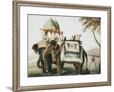 Elephants with Their Mahouts, Company School, circa 1815--Framed Giclee Print