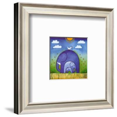 Elephants-L. Edwards-Framed Art Print