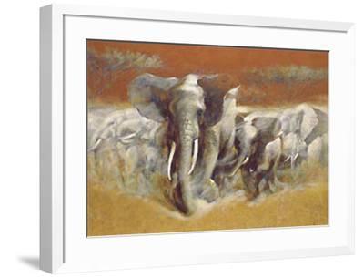 Elephants-Joaquin Moragues-Framed Art Print