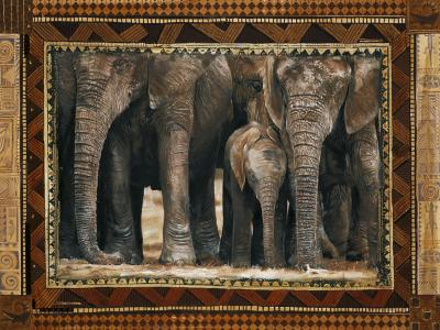 Elephants-Rob Hefferan-Art Print