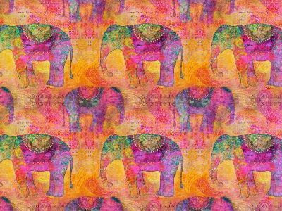 Elephants-Lebens Art-Art Print