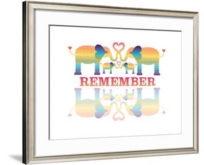 Elephants-Mindy Howard-Framed Giclee Print