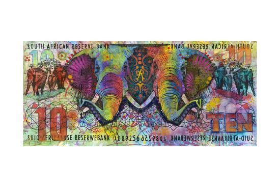 Elephants-Dean Russo-Giclee Print