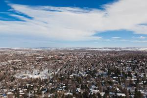 Elevated city view from Flagstaff Mountain, Boulder, Colorado, USA