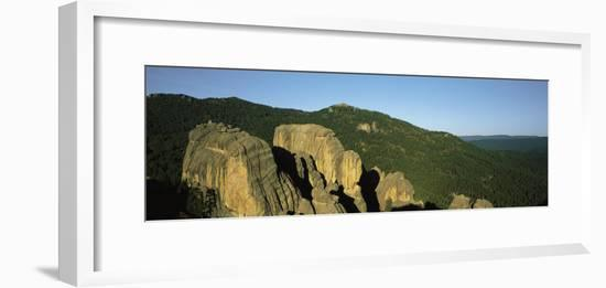 Elevated Panoramic View of Rock Formation in the Black Hills-Bobby Model-Framed Photographic Print