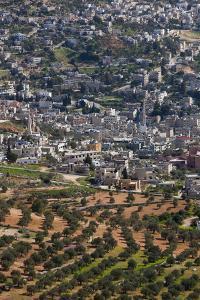 Elevated town view from Ajloun Castle, Ajloun, Jordan