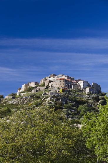 Elevated Town View, Sant Antonino, La Balagne, Corsica, France-Walter Bibikow-Photographic Print