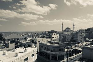 Elevated town view with mosque, Madaba, Kings Highway, Jordan
