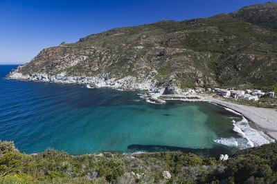 Elevated View, Marine De Giottani, Le Cap Corse, Corsica, France-Walter Bibikow-Photographic Print