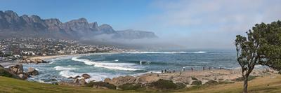 Elevated View of a Beach with Mountain Range in the Background, Twelve Apostles, Camps Bay--Photographic Print