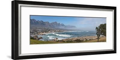 Elevated View of a Beach with Mountain Range in the Background, Twelve Apostles, Camps Bay--Framed Photographic Print