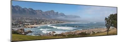 Elevated View of a Beach with Mountain Range in the Background, Twelve Apostles, Camps Bay--Mounted Photographic Print