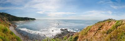 Elevated View of a Coast, Palos Verdes Cove, Los Angeles County, California, USA--Photographic Print