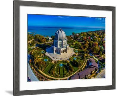 Elevated view of Baha'i Temple, Wilmette, Cook County, Illinois, USA--Framed Photographic Print