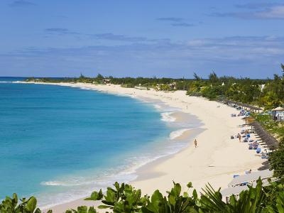 Elevated View of Baie Longue Beach, St. Martin, Leeward Islands, West Indies-Gavin Hellier-Photographic Print