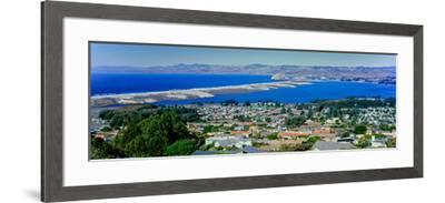 Elevated View of City at Waterfront, Morro Bay, San Luis Obispo County, California, USA--Framed Photographic Print