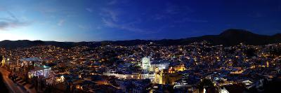 Elevated view of cityscape at sunset, Guanajuato, Mexico--Photographic Print