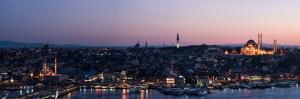 Elevated View of Cityscape from the Galata Tower, Beyoglu, Istanbul, Turkey