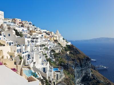 Elevated View of Fira, Santorini (Thira), Cyclades Islands, Aegean Sea, Greek Islands, Greece-Gavin Hellier-Photographic Print