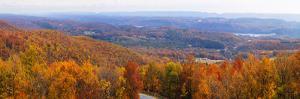 Elevated view of Lehigh Valley from Kattner's Mountain, Penn's Peak, Pennsylvania, USA