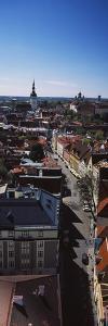 Elevated view of Old town, Tallinn, Estonia