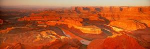 Elevated View of Rock Formations in Canyon, Dead Horse Point State Park, Utah, USA