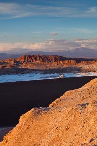 Elevated view of rocky landscape, Valle De La Luna, Atacama Desert, San Pedro de Atacama, El Loa...