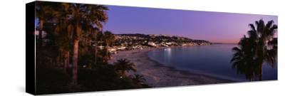 Elevated view of the beach, Laguna Beach, Orange County, California, USA