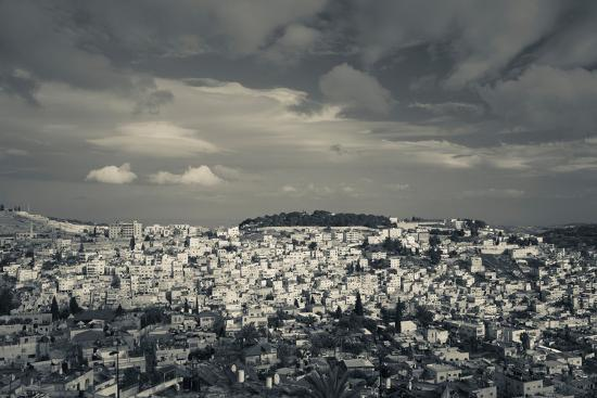 Elevated view of the city from Mount of Olives, Jerusalem, Israel--Photographic Print